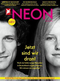 Die neue Ausgabe von NEON - ab im Handel! Tabu, Art Director, Editorial, Germany, Celebrities, Movie Posters, Magazine Covers, Magazines, Guys