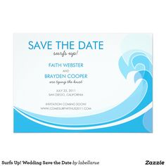 Surfs Up! Wedding Save the Date