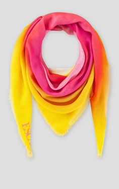 An airbrushed heart print in radiant colors makes this scarf stand out. Invigorate new-season looks with this generous square design that's crafted from a soft and drapy modal-silk blend. One Color, Color Pop, Scarf Sale, Neutral Outfit, Summer Scarves, Heart Print, Silk Scarves, Accent Colors, Summer Outfits