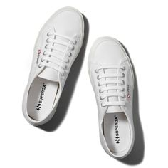 Abercrombie & Fitch Superga Cotu Classic Sneaker (€55) ❤ liked on Polyvore featuring shoes, sneakers, flats, scarpe, white, flat pumps, flat pump shoes, flat shoes, flats sneakers and white flat shoes