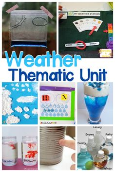 If your want to learn more about weather, look no further than these STEM weather activities perfect for completing a weather unit study! Weather Activities For Kids, Teaching Weather, Preschool Weather, Weather Crafts, Weather Science, Weather Unit, Weather And Climate, Kindergarten Science, Elementary Science
