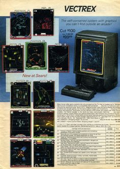 Vectrex arcade system - Sears catalog ad ||| SQLPHP.COM Denmark - special SEO…