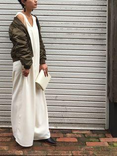 TODAYFULのミリタリージャケット「リバーシブルMA-1」を使ったmomoko sato(LIFE's 福岡店)のコーディネートです。WEARはモデル・俳優・ショップスタッフなどの着こなしをチェックできるファッションコーディネートサイトです。