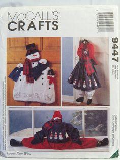 McCall's 9447 Snowmen Wall or Door Hangings and Door Drafter