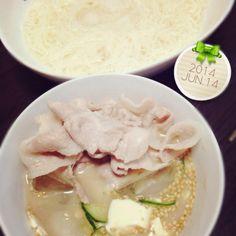 26.06.14 - 6件のもぐもぐ - 夜*豚しゃぶ冷汁☆そうめん by mikaogihar7Yh