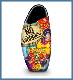 Australian Gold No Worries Bronzer Tanning Lotion 8.5 Fl Oz by Australian Gold. $15.45. UV amplifying formula allows for better UV light penetration for faster results. Fragrance: Cocoa Beach. Contains highest levels of 3 after tan odor elminators for those who have paces to go after tanning. Moisture rich formula promotes rapid tanning and prolongs the life of your tan. Fourth dimension bronzers for almost instant and long lasting color. 2009 No Worries 4th Dimen...