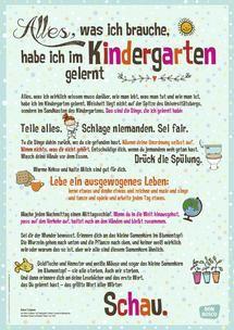 Alles, was ich brauche, habe ich im Kindergarten gelernt: DIN-A1 Plakat für Krippe, Kindergarten und Kita | Don Bosco Verlag - Kompetenz für Kindergarten, Schule und Gemeinde