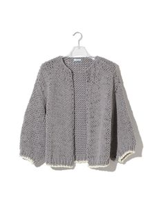 Chunky Cotton Big Cardigan, made of voluminous cotton. Oversized cardigan with accentuated hemlines. Handmade with love and available here.Click to shop!