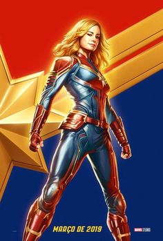 Captain Marvel Movie 2019 Marvel Poster Print CCXP Brie LarsonA4 A3 A2 A1