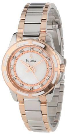 #Bulova #Watch , Bulova Women's 98P134 Diamond Dial Watch