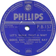 78 RPM - Doris Day And Johnnie Ray - Candy Lips / Let's Walk That-A-Way - Philips - UK - P.B.157