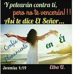 Y pelearán contra ti, pero no te vencerán; porque yo estoy contigo, dice Jehová, para librarte. Jeremías 1:19 El peleará la batalla por tí, por eso no debemos buscar la venganza. Sigamos confiando plenamente en Jesucristo, Él dió su vida por tí y por mí. Te Amo Señor!!!  Bendiciones en éste hermoso día