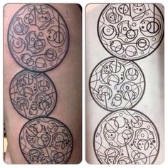 "My new gallifreyan tattoo. It says: ""I am and always will be the optimist, the hoper of far-flung hopes and the dreamer of improbable dreams"""