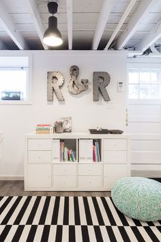 basement floor idea contemporary kids by Justine Sterling Design