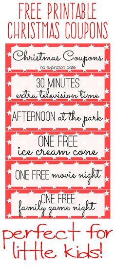 free printable christmas coupons