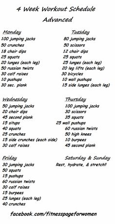 advanced workout--full body