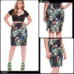 HOST PICK 2/8FLORAL PENCIL SCUBA SKIRT Beautiful stretch scuba skirt with side zip, adorable! Please see third photo for complete description.PLEASE DO NOT BUY THIS LISTING! I will personalize one for you. Eloquii Skirts