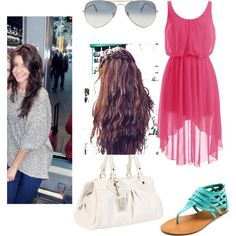 eleanor calder outfit by paulinaamalikk on Polyvore featuring Charlotte Russe, Marc by Marc Jacobs and Ray-Ban