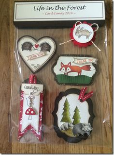 "Luv these super cute card candy Images by Laura Mackie  www.lauramackie.co.uk  She used ""Life in the Forest"" by Stampin' Up!"