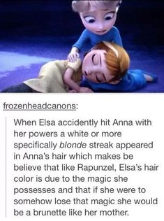 Thus further proving the whole parents going to cousin repunzel's wedding theory
