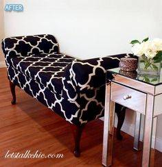 Part of a DIY blog for remaking over old furniture - love this