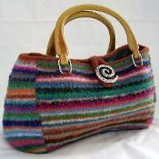 Felted Doctor Bag - via @Craftsy Great way to use up scraps of wool yarn