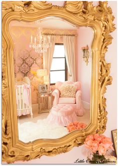 Pink and Gold Glamour Nursery | Project Nursery