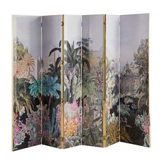 Grand paravan / folding screen with interesting jungle pattern for exotic decor. Christian Lacroix - Lacroix X Roche Bobois - Art de vivre