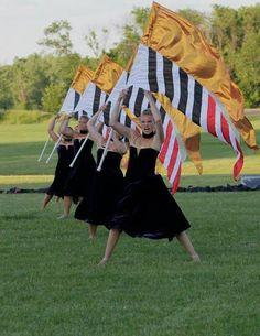 2013 Phantom Regiment Colour Guard, Color Guard Flags, Color Guard Uniforms, Marching Band Uniforms, Marching Band Memes, Color Guard Costumes, Cheers Photo, Cheer Poses, Drum Corps International