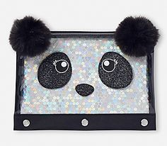 Justice is your one-stop-shop for on-trend styles in tween girls clothing & accessories. Shop our Sparkle Cat Pencil Case . Justice School Supplies, Cool School Supplies, Justice Backpacks, Girl Backpacks, Panda Love, Panda Bear, Panda Decorations, E Claire, School Suplies