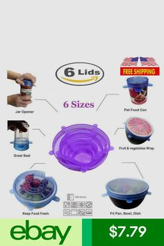 Durable And Expandable To Fit Various Sizes For Bowl Covers 12 Pack To Keeping Food Fresh Reusable P Silicone Stretch Lids