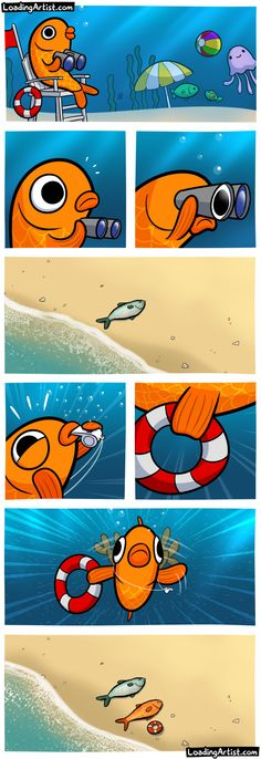 This fish is a lifeguard. Tap to view the full comic!