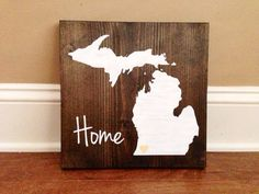 Pick Colors, Michigan Wood Sign, Custom Michigan Sign, Stained and Hand Painted… Michigan Crafts, Barn Wood Crafts, Diy Painting, Painting Pallets, Pottery Painting, Pallet Art, Wood Patterns, Wood Projects, Craft Projects