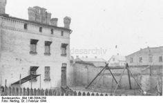 Gallows in the ghetto, Riga, Lettland