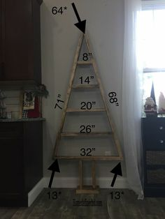 Tired of the traditional Christmas Tree? Learn how to make this easy Modern farmhouse DIY wood Christmas tree shelves. Add holiday cheer to any space, big or small, with a versatile minimalist tree that was a breeze to make from Wonder why we decide Christmas Tree Cutting, Christmas Wood Crafts, Wood Christmas Tree, Christmas Projects, Christmas Crafts, Wooden Christmas Decorations, Xmas, Gold Christmas, Tree Decorations