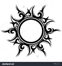 Bildergebnis für tribal sun tattoos designs