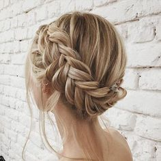 beautiful blonde crown braid