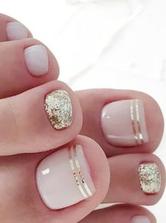 20 Trendy Winter Nail Colors & Design Ideas for 2019 - TheTrendSpotter - ? : 20 Trendy Winter Nail Colors & Design Ideas for 2019 - TheTrendSpotter - ? Beach Toe Nails, Gel Toe Nails, Simple Toe Nails, Pink Toe Nails, Pretty Toe Nails, Cute Toe Nails, Toe Nail Color, Nail Colors, Nail Pink