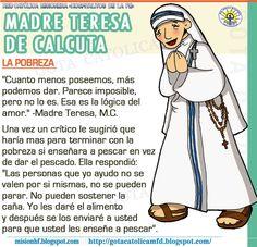 GOTA CATÓLICA: MADRE TERESA DE CALCUTA: Hace 5 años tu me motivas...