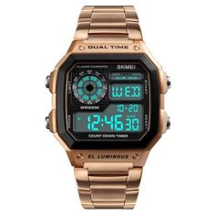 Waterproof Digital Wristwatch Fashion Casual, Gold Fashion, Style Fashion, Fashion Men, Sport Fashion, Men Casual, Mens Sport Watches, Watches For Men, Wrist Watches