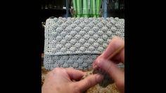 Bobble stitch crochet bag
