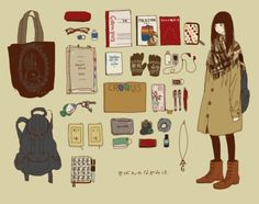 <<What's in a mori girl's bag?>>