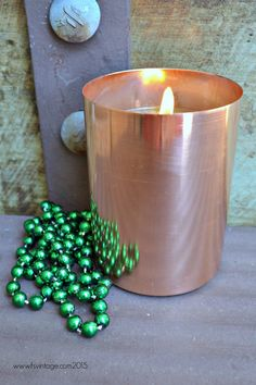 Fab #copper Soy Candles, Candle Holders, Copper, Handmade, Vintage, Hand Made, Porta Velas, Brass, Vintage Comics