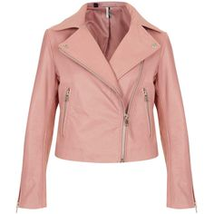 TOPSHOP Boxy Leather Biker Jacket