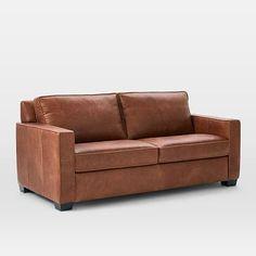 "Henry® Leather Sofa (76"") #westelm"
