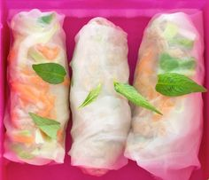 Sandwich-free lunch box ideas - Vietnamese Rice Paper Rolls for kids! Lunch Box Recipes, Lunch Snacks, Savory Snacks, Lunch Ideas, School Lunch Box, Lunch Boxes, School Lunches, Work Lunches, Healthy Recipes