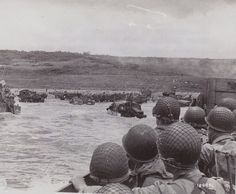 """June 1944 - Omaha Beach, Normandy - Start of D - Day - WWII - """" Operation Overlord"""" The allied invasion of Nazi occupied Europe. D- Day began on the beaches of Normandy & France. D Day Normandy, Normandy Beach, Normandy France, World History, World War Ii, Us Marines, Omaha Beach, Normandy Invasion, D Day Landings"""
