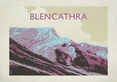 Blencathra - Lake District National Park Original graphic poster art designed in The Northern Line studio in Ulverston, Cumbria. We ship worldwide. #thelakedistrict #posters #graphicart