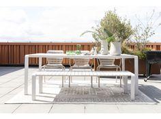 Tuinset Vondel 169 cm groen   DEBA Meubelen Garden Table, Garden Chairs, Outdoor Tables, Outdoor Decor, Enjoy The Sunshine, Outdoor Settings, Small Patio, Enjoy It, Plein Air