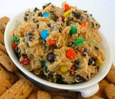 This Cookie Dough Dip is delicious! Serve with New York Style Bagel Crisps for the ultimate sweet n' salty snack! www.newyorkstyle.com